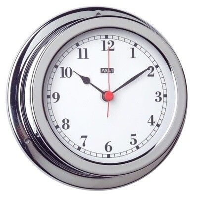 ANVI 32.0471 Clock – Polished Brass & Chromed