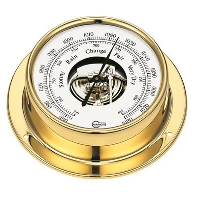 Barigo 183MS Polished Brass Barometer - Low Altitude