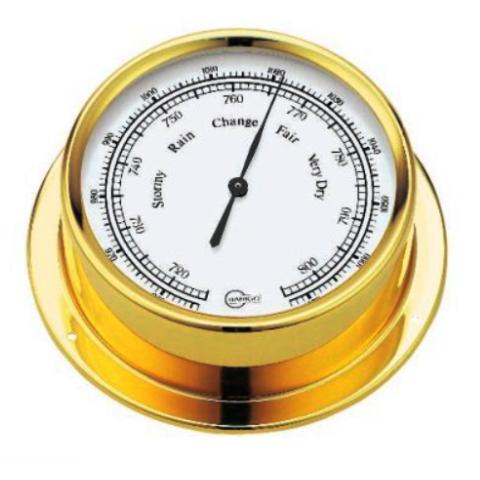 Barigo 184MS Polished Brass Barometer - High Altitude