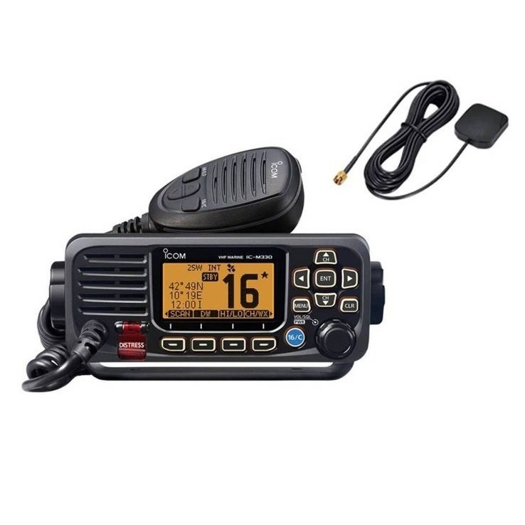 Icom M330G 25 Watt Marine VHF Radio with GPS - Black