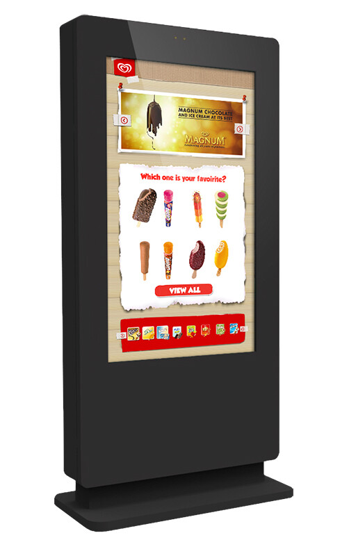 Freestanding PCAP Outdoor Advertising Touch Screen Poster
