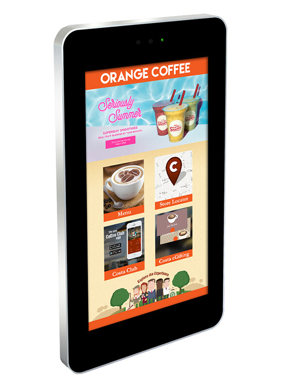 Wall-Mounted PCAP Outdoor Touch Screen
