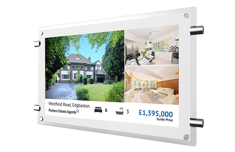 Estate Agent Window Display | Digital Rod Display