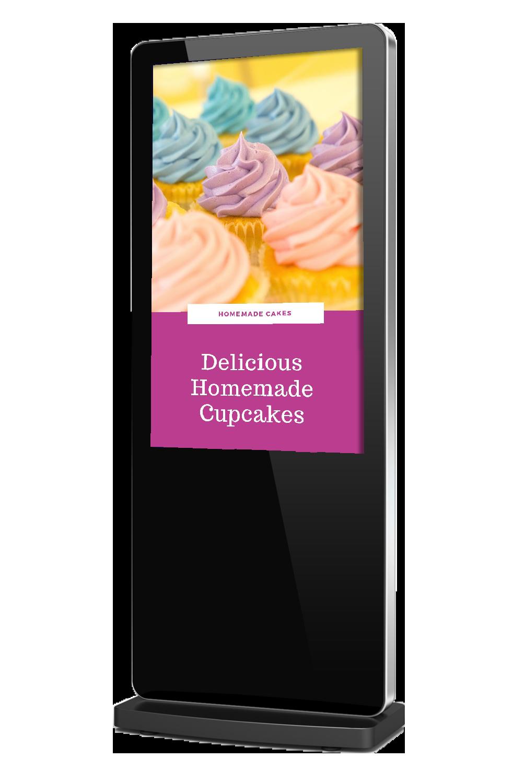 Slimline Freestanding Advertising Display | Digital Poster | Totem