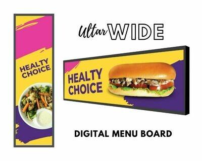 Ultra-Wide Digital Menu Board | Stretched Display