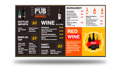 Design Services | Digital Menu Board | Template