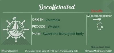 Decaffeinated coffee (منزوعة الكافيين)