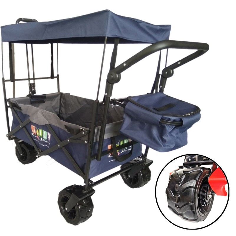 4X4 FAMILY Jolly Trolley with Canopy push and pull handle and Cooler bag