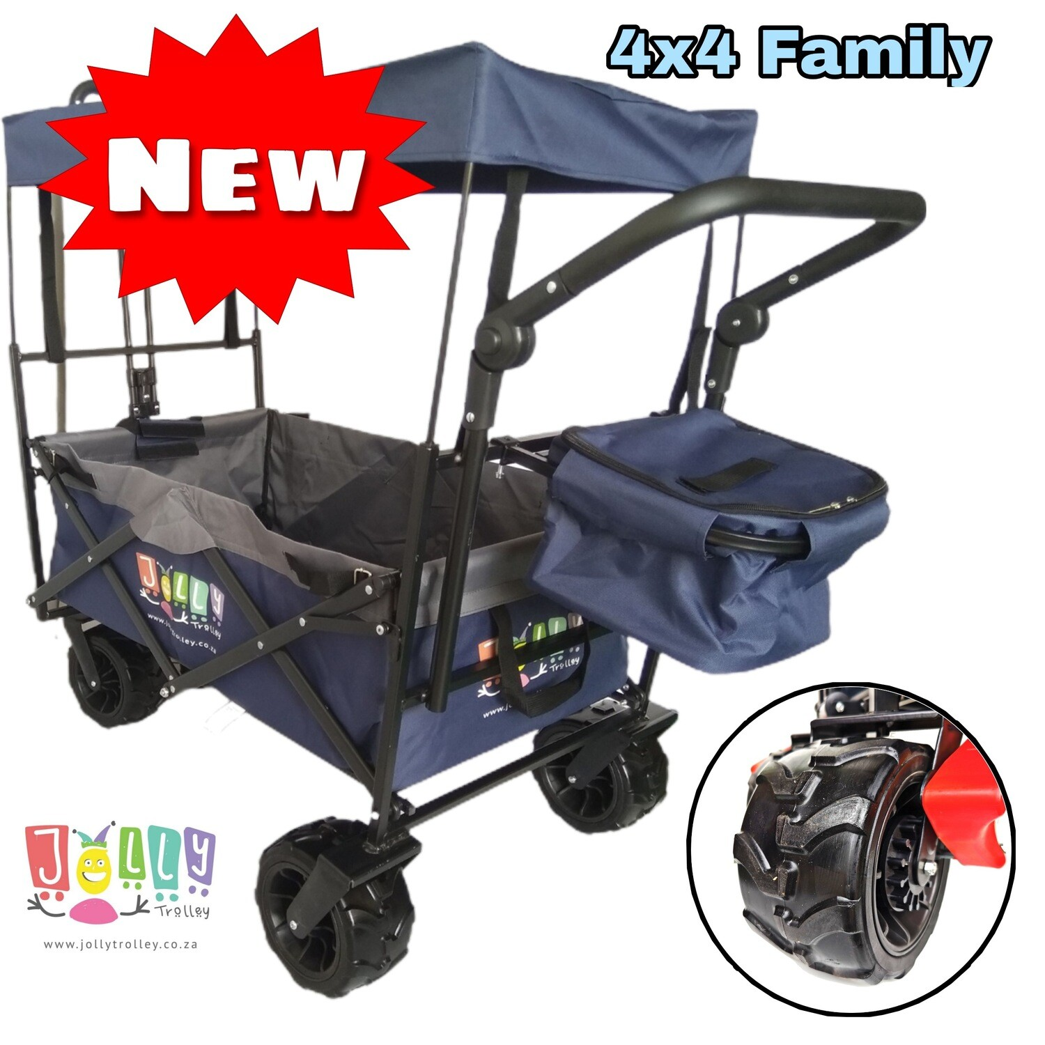 4X4 FAMILY Jolly Trolley with Canopy and Cooler bag