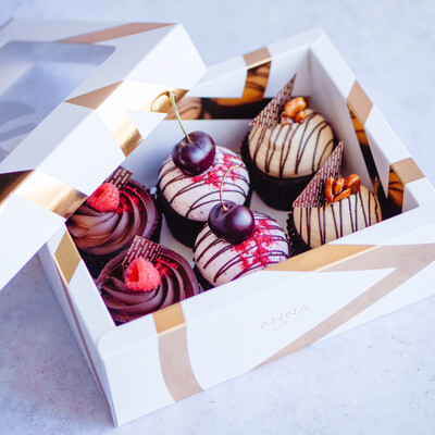 Mixed Half Dozen Vegan & GF Cupcake Box