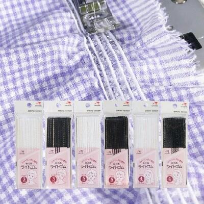 【金天馬ブランド】手作りお洋服のギャザーにおすすめ!ライトゴム。全6種