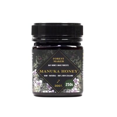Manuka Honey 300+mgo tested 250g, Plastic Jar