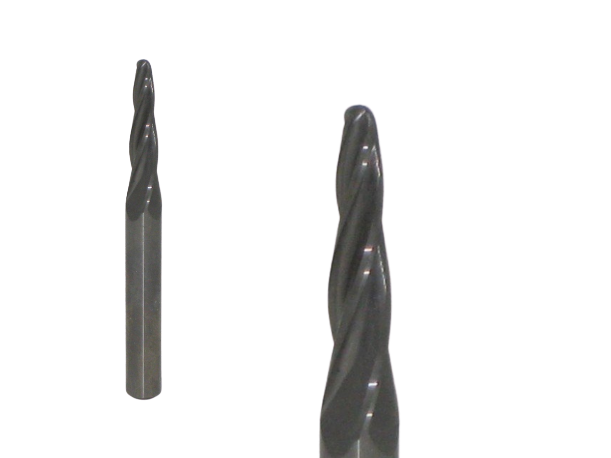 """1/8"""" x 1"""" TAPERED BALL NOSE"""