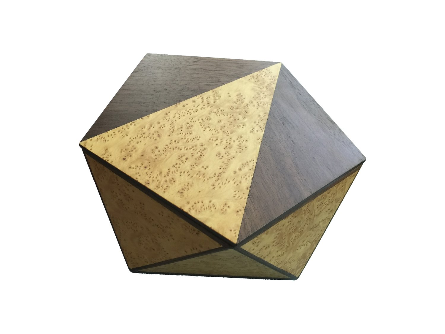 Pentagonal Box - Walnut and Nutmeg Burl