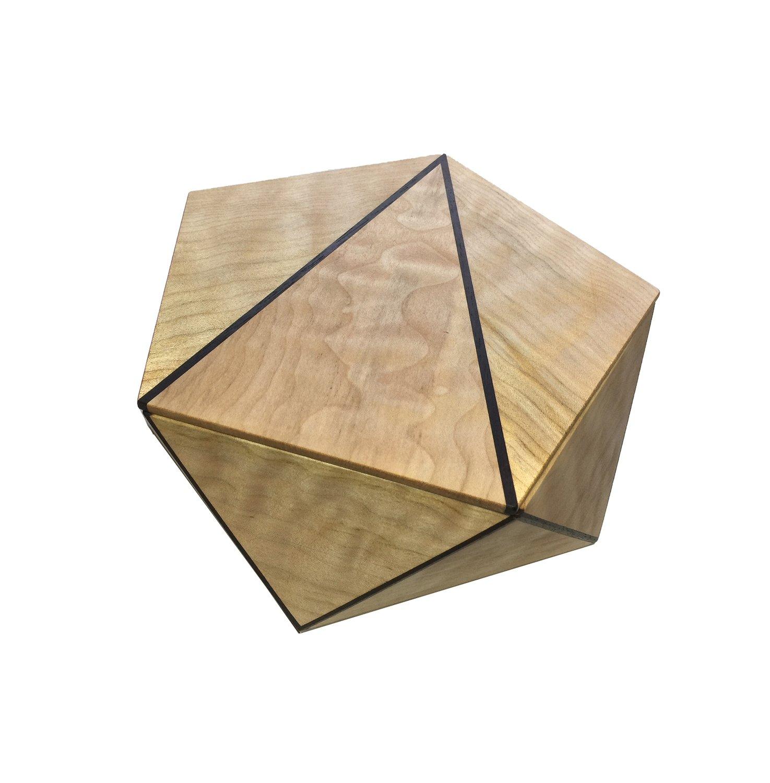 Pentagonal Box Figured Maple with Wenge Detail