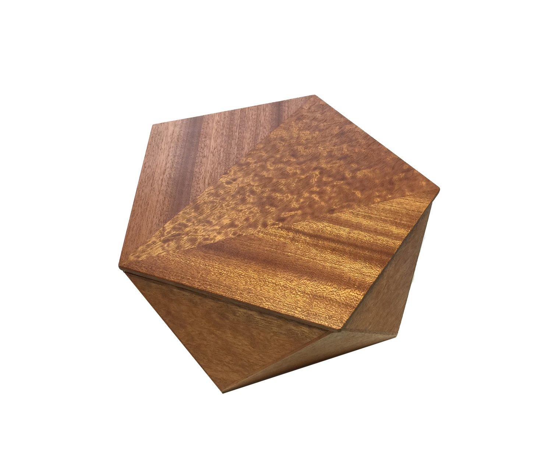 Sapele Hardwood with Quilted Sapele Veneer