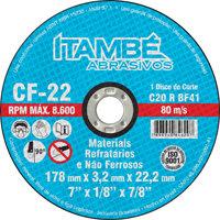 """DISCO CORTE ITAMBE REFR 4.1/2"""" X 7/8"""" CF22"""