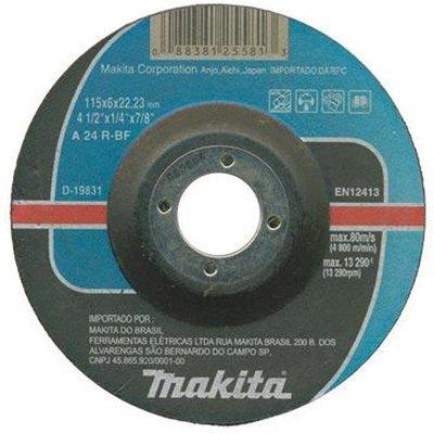 "DISCO DESBASTE MAKITA 4.1/2"" X 7/8"" 19831"