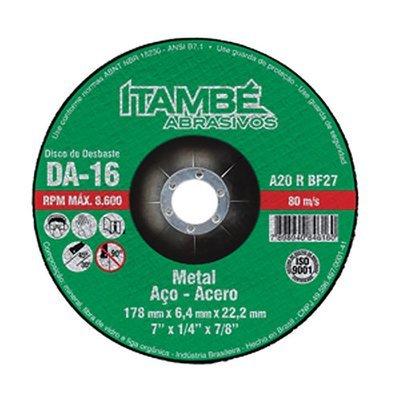 """DISCO DESBASTE ITAMBE 7"""" X 7/8"""" DA-16"""