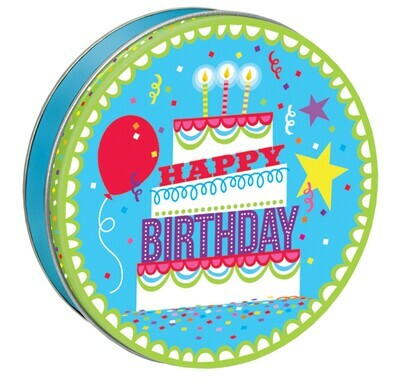 Happy Birthday Candy Tin with 13.5 oz. of Candy - Your Choice and Free Shippin