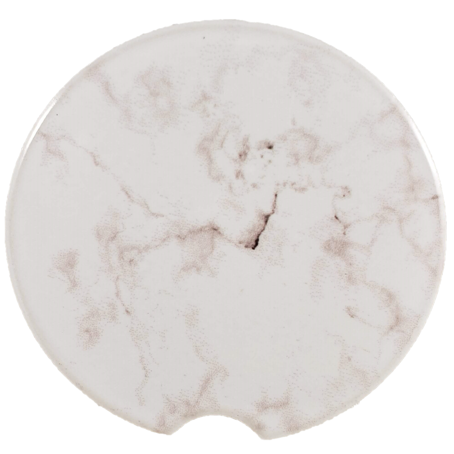 Grey Marble Sandstone Car Coaster - Set of Two