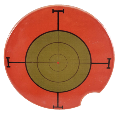 Sniper Target Sandstone Car Coaster - Set of Two