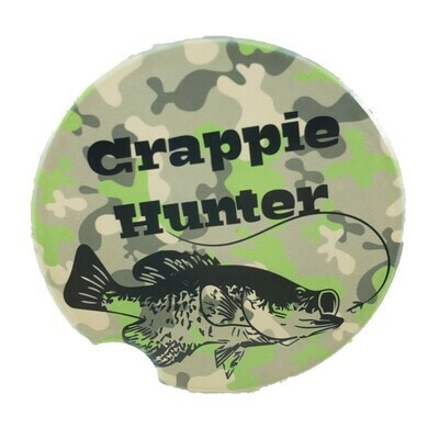 Crappie Hunter Car Coaster - Set of Two