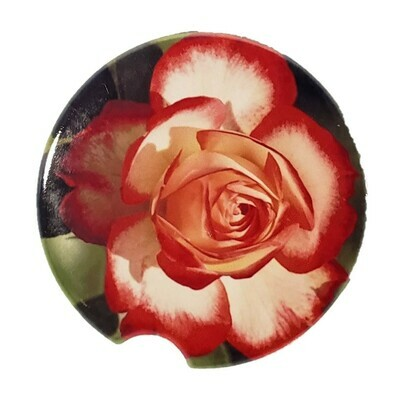 Rose Car Coaster - Set of Two