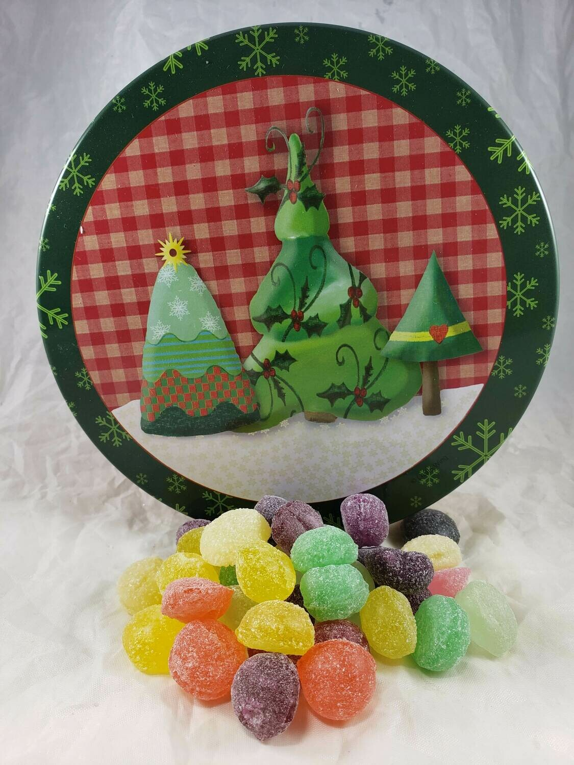 Country Christmas Candy Tin with 13.5 oz. of Candy - Your Choice
