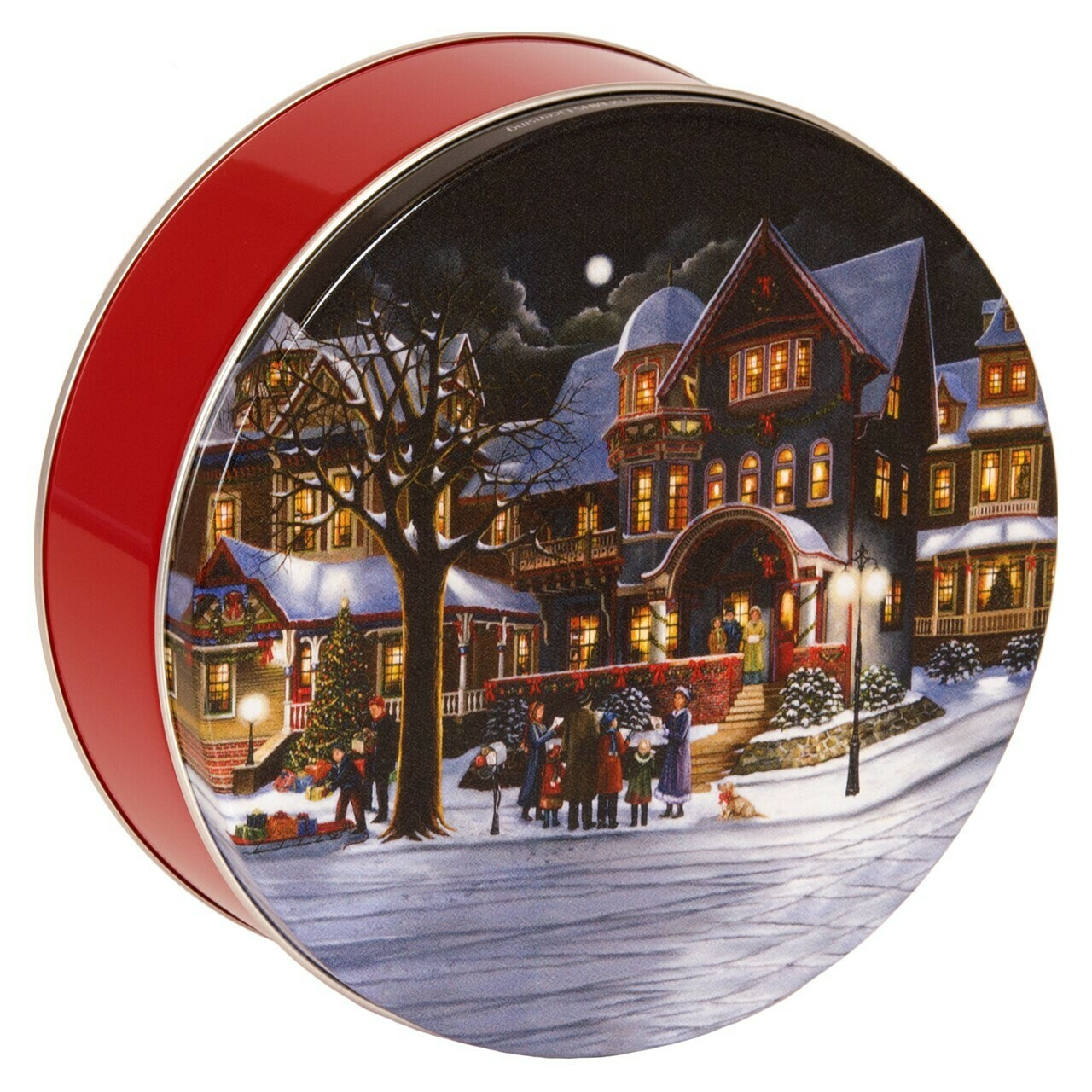 Christmas Carolers Candy Tin with 1 Pound of Fudge - Your Choice