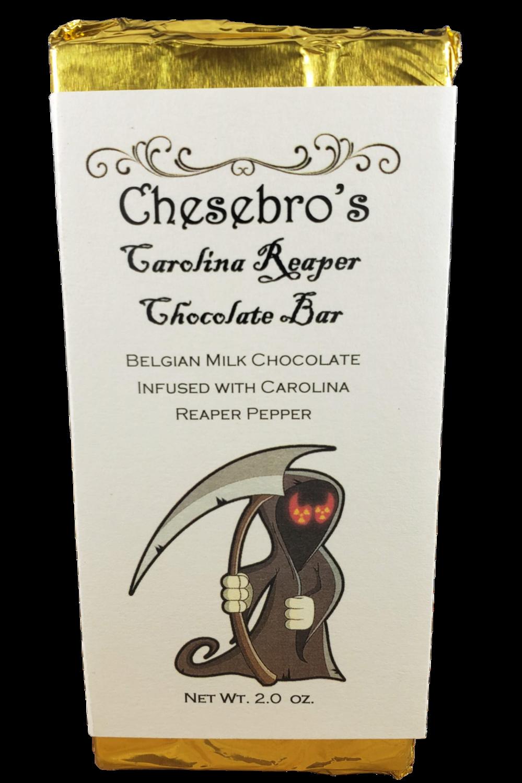 Dark Chocolate Carolina Reaper Chocolate Bar