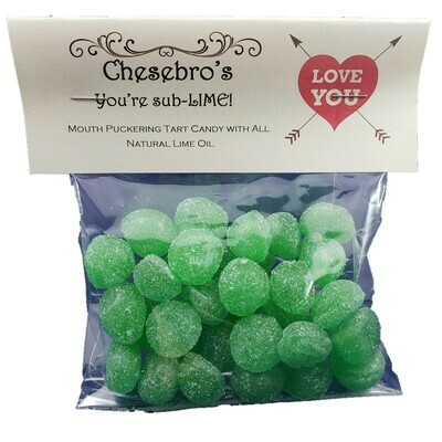 You're Sub-Lime! Sour Lime Hard Candy Drops