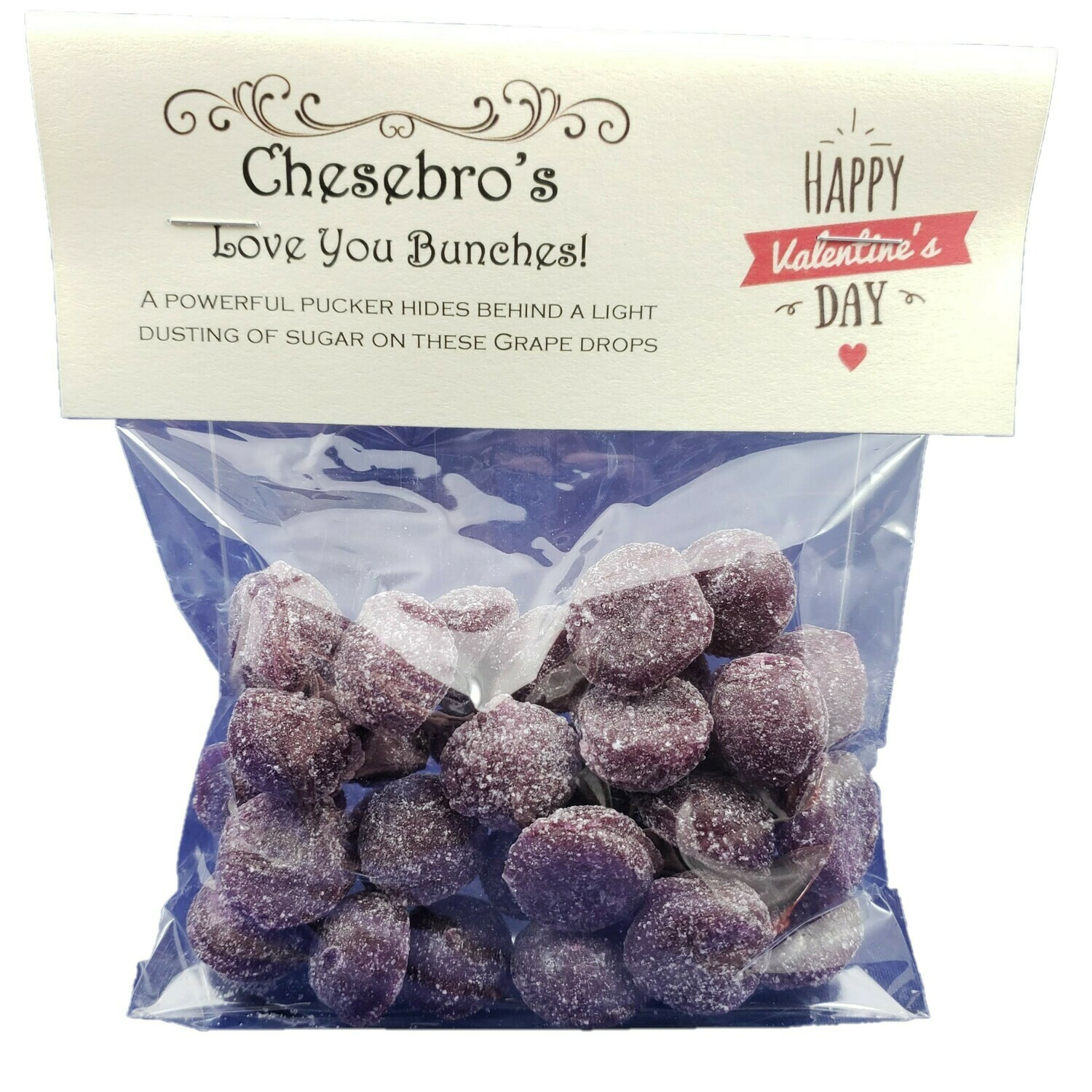 I Love You Bunches! Sour Grape Hard Candy Drops