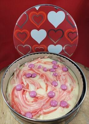 White Chocolate Raspberry and M&M Valentine Tin