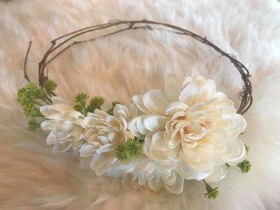 Cream Floral Crown