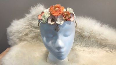 Mixed Media Floral Crown