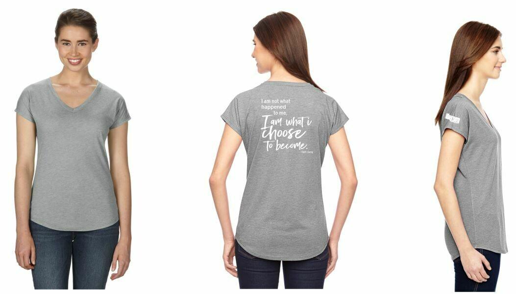 Ladies' Triblend V-Neck T-Shirt