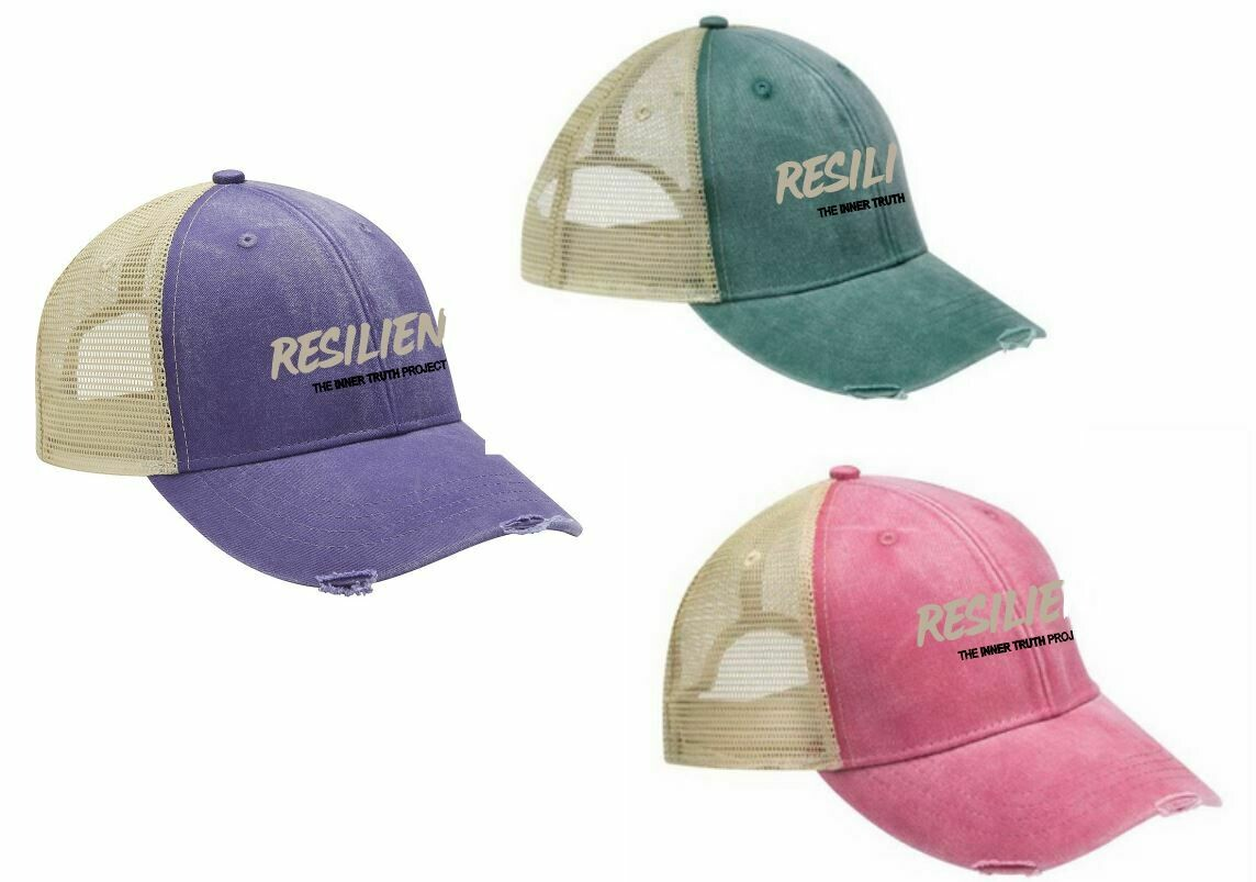 Embroidered Distressed Pigment Washed Cap