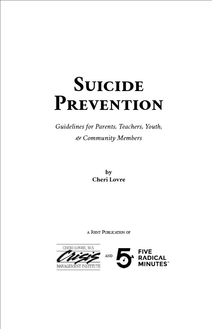 Suicide Prevention Guidelines