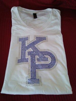 KP Ladies White Bling T-Shirt