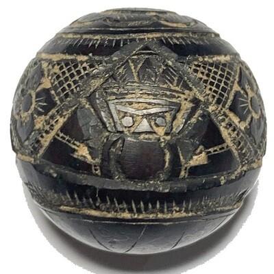 Kot Kala Pra Rahu Mai Mee Ta Ud Kring Eyeless Coconut Shell with Magic Bead Rattle Luang Por Noi Wat Srisa Tong