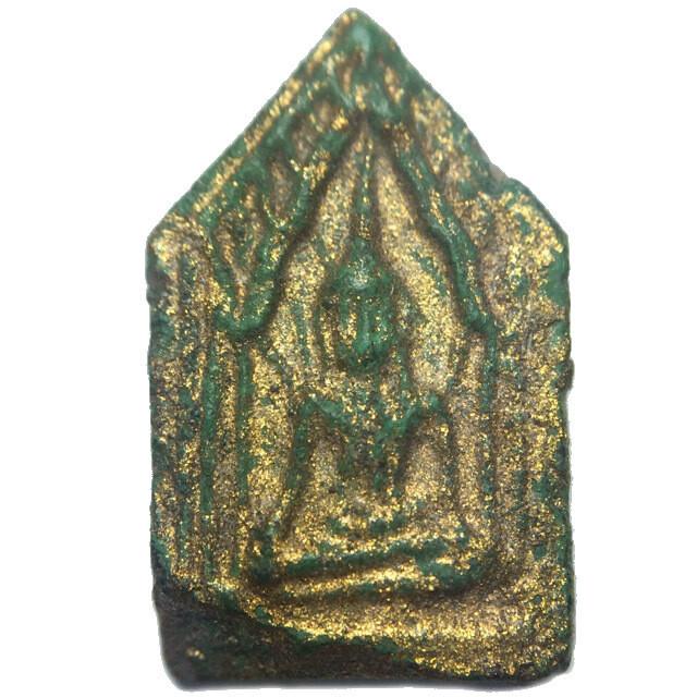 Miniature Pra Khun Phaen Prai Kumarn 2514 BE Nuea Khiaw Pid Tong Luang Phu Gaew & Luang Phu Tim Wat Laharn Rai