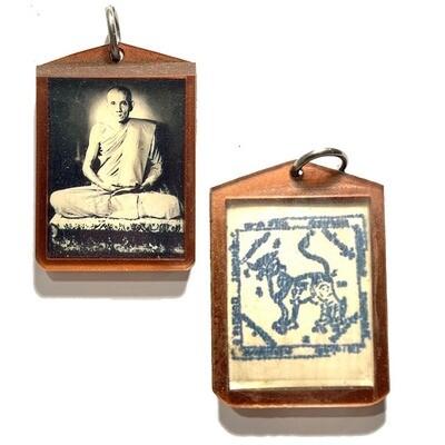 Roop Tai Ad Krajok Hlang Dtra Singh 2504 BE Blessėd Guru Monk Photo Luang Por Guay Wat Kositaram