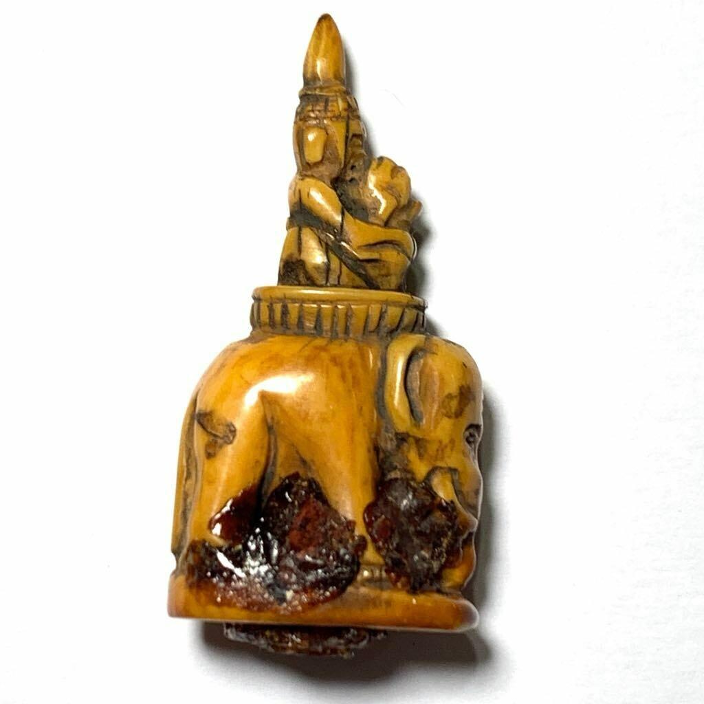 Dtu-Ing Nuea Nga Gae Carved Lanna Animist Seduction Charm Early Era Kroo Ba Wang Wat Ban Den