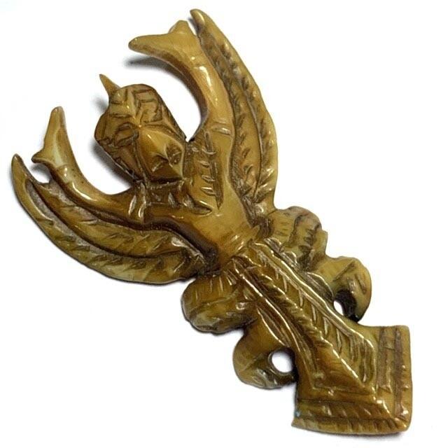 Paya Krut Maha Amnaj Nuea Gna Gae Ivory Garuda Master Class Carving Luang Por Derm Wat Nong Po