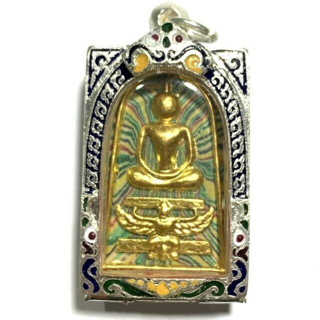 Pra Somdej Sai Rung Thaan Krut 2542 BE Metta Baramee 94 Rainbow Powders Gold Leaf Image 2 Takrut Luang Por Pae