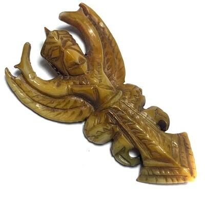 Paya Krut Maha Amnaj Nuea Gna Gae Carved Ivory Garuda Master Class Amulet 2480 BE Luang Por Derm Wat Nong Po FREE Express shipping