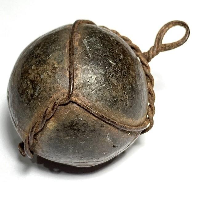 Look Om Prort Gror Alchemical Magic Ball & Kring Leklai Insert Circa 2460 BE Luang Por Tap Wat Anong