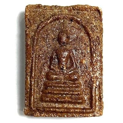 Somdej Hlang Roop Muean Pim Lek Nuea Pong Chan Hmak Pasom Gesa 2518 BE Areca Nut Powders with Monk Hair Luang Phu Khaw Analayo - Wat Tham Gong Plae