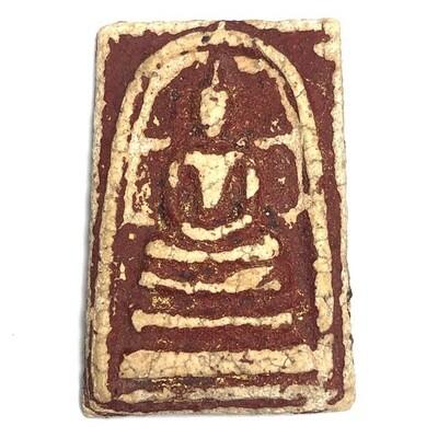 Pra Somdej Wat Rakang Kru Wat Kanlayanamit Long Rak Pid Tong Gold Leaf Red Lacquer & Certificate Free Express Shipping